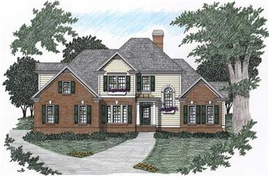 4-Bedroom, 1865 Sq Ft European Home Plan - 102-1041 - Main Exterior