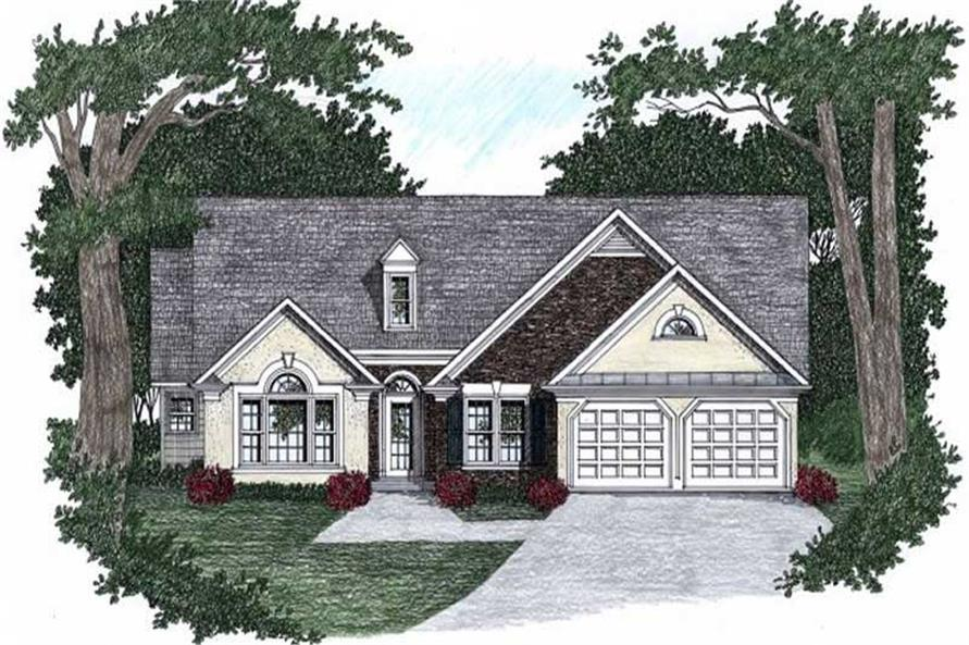 4-Bedroom, 2645 Sq Ft Ranch Home Plan - 102-1043 - Main Exterior