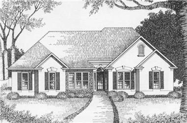 3-Bedroom, 1629 Sq Ft Ranch Home Plan - 102-1046 - Main Exterior