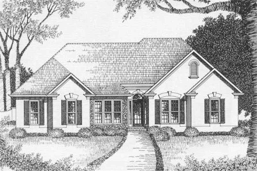 3-Bedroom, 1629 Sq Ft Ranch Home Plan - 102-1046 - Main Exterior