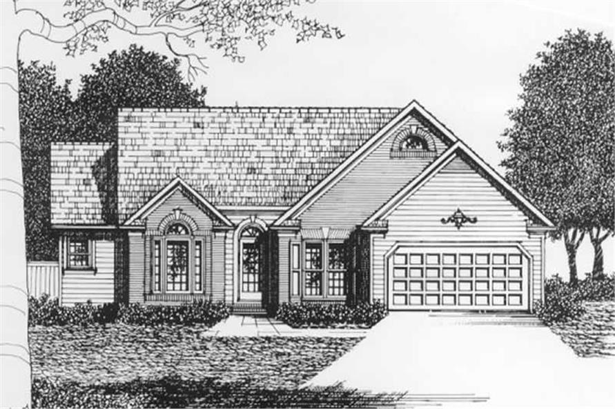 3-Bedroom, 1586 Sq Ft Ranch Home Plan - 102-1048 - Main Exterior