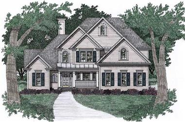 4-Bedroom, 2587 Sq Ft Craftsman Home Plan - 102-1049 - Main Exterior