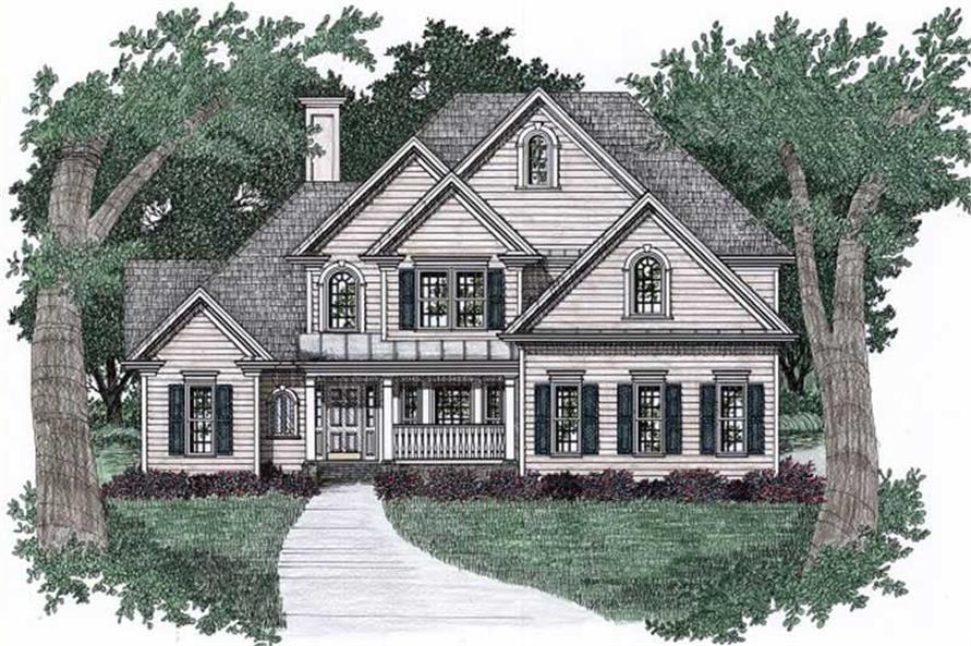 4-Bedroom, 2587 Sq Ft Craftsman Home Plan - 102-1049 - Main Exterior