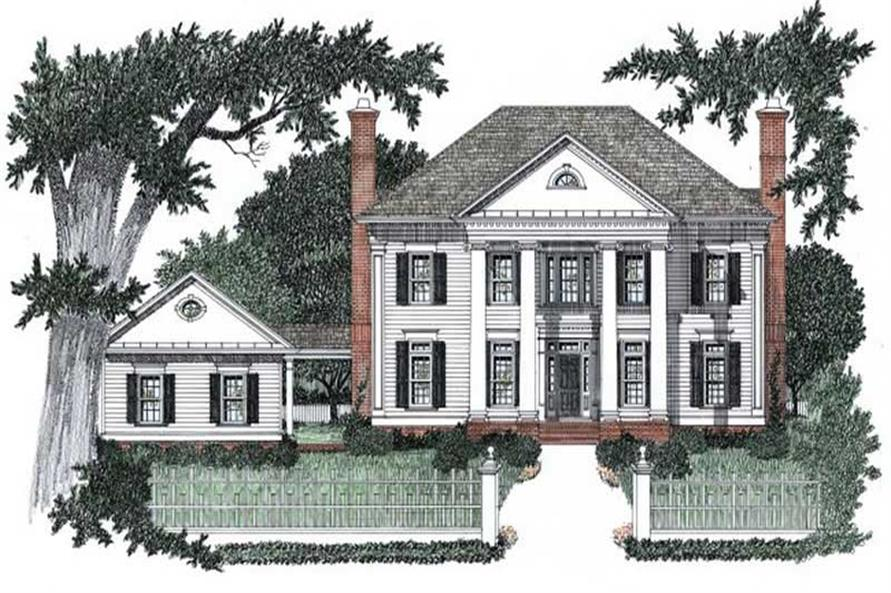 Colonial Home with 4 Bdrms 3435 Sq Ft House Plan 102 1050