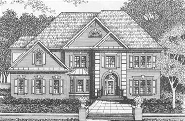 5-Bedroom, 3397 Sq Ft European Home Plan - 102-1053 - Main Exterior