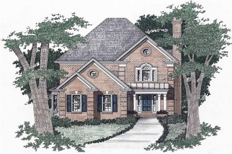 3-Bedroom, 2077 Sq Ft European Home Plan - 102-1056 - Main Exterior