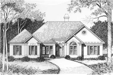 3-Bedroom, 1670 Sq Ft European Home Plan - 102-1060 - Main Exterior