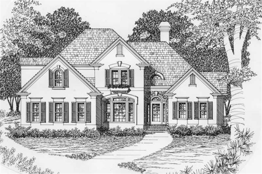 3-Bedroom, 2058 Sq Ft European Home Plan - 102-1062 - Main Exterior