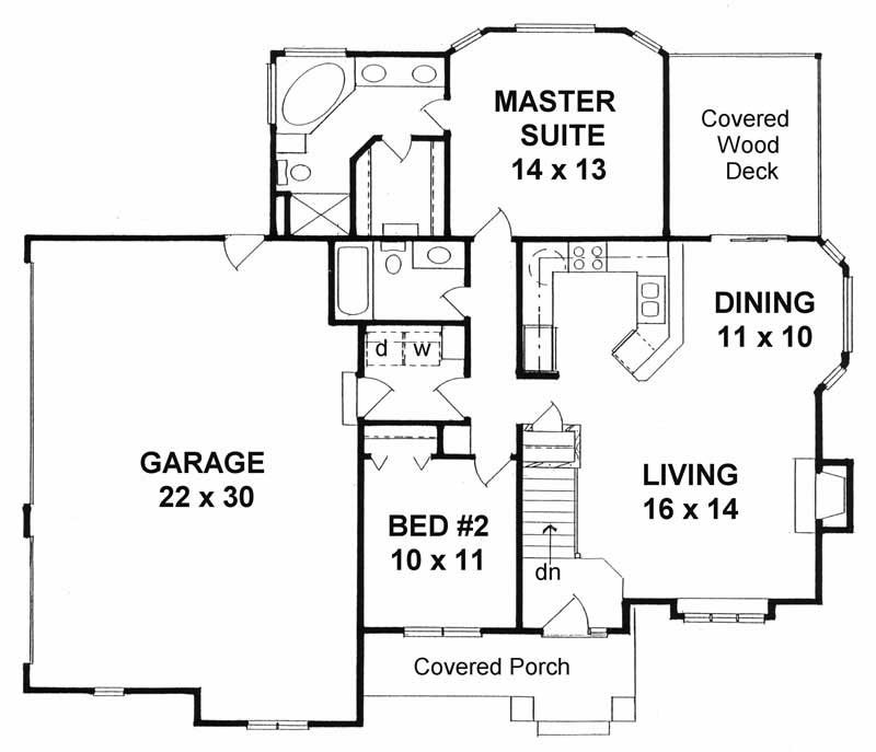 Small Home With 2 Bdrms 1111 Sq Ft Floor Plan 103 1001