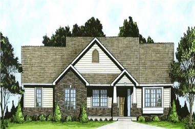 2-Bedroom, 1111 Sq Ft Small House Plans - 103-1001 - Front Exterior