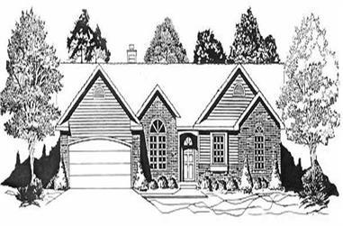 3-Bedroom, 1532 Sq Ft Ranch Home Plan - 103-1003 - Main Exterior