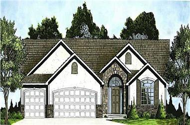 3-Bedroom, 1551 Sq Ft Ranch Home - Plan #103-1005 - Main Exterior