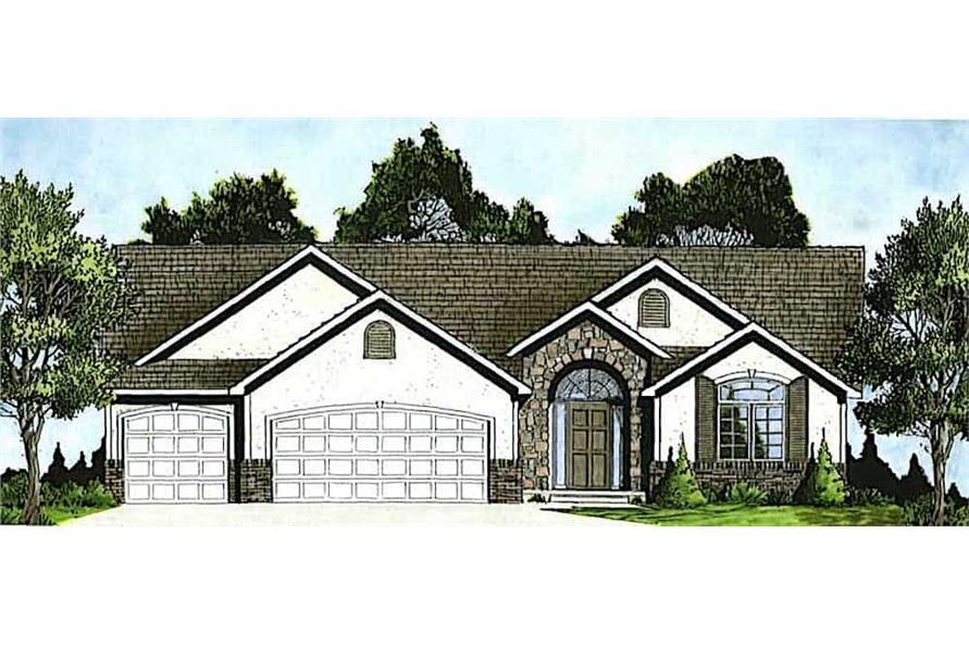3-Bedroom, 1551 Sq Ft Ranch Home - Plan #103-1005 - Main Exterior