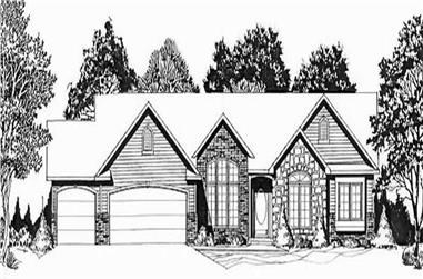 3-Bedroom, 1720 Sq Ft Ranch House Plan - 103-1006 - Front Exterior