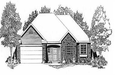 3-Bedroom, 1406 Sq Ft Ranch Home Plan - 103-1012 - Main Exterior