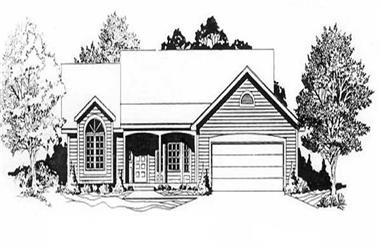 3-Bedroom, 1344 Sq Ft Ranch Home Plan - 103-1013 - Main Exterior