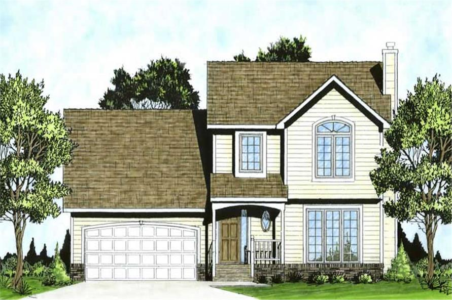 3-Bedroom, 1343 Sq Ft Small House Plans - 103-1014 - Main Exterior