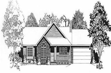 3-Bedroom, 1283 Sq Ft Ranch Home Plan - 103-1017 - Main Exterior
