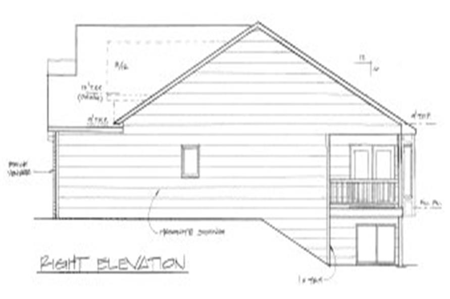 103-1018: Home Plan Right Elevation