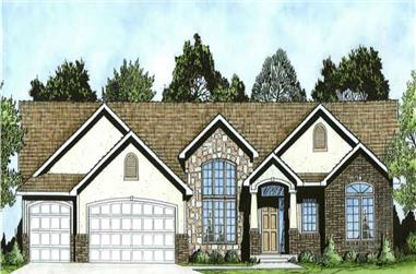 3-Bedroom, 2002 Sq Ft Ranch House Plan - 103-1018 - Front Exterior