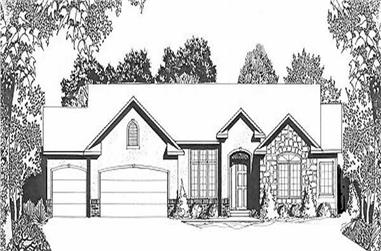 2-Bedroom, 1571 Sq Ft Ranch House Plan - 103-1019 - Front Exterior