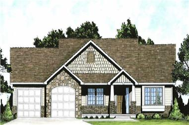 2-Bedroom, 1150 Sq Ft Ranch Home-  Plan #103-1020 - Main Exterior