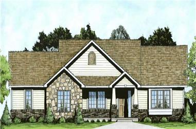 2-Bedroom, 1309 Sq Ft Small House Plans - 103-1023 - Main Exterior