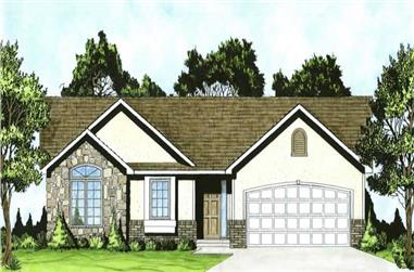 2-Bedroom, 1273 Sq Ft Small House Plans - 103-1025 - Main Exterior
