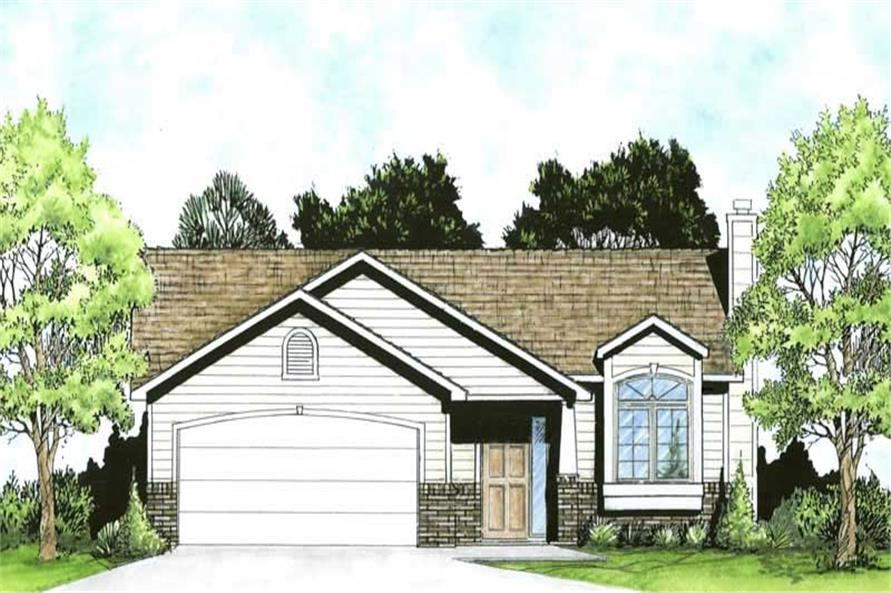 2-Bedroom, 926 Sq Ft Ranch House Plan - 103-1028 - Front Exterior