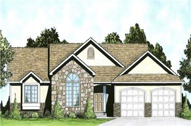 3-Bedroom, 1449 Sq Ft Small House Plans - 103-1030 - Main Exterior
