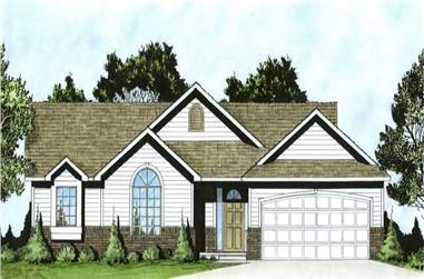 3-Bedroom, 1214 Sq Ft Small House Plans - 103-1032 - Main Exterior