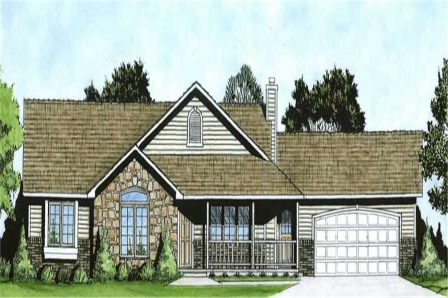 3-Bedroom, 1586 Sq Ft Ranch House Plan - 103-1033 - Front Exterior