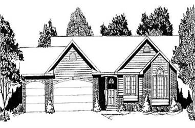 3-Bedroom, 1339 Sq Ft Ranch Home Plan - 103-1038 - Main Exterior