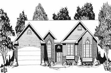 3-Bedroom, 1268 Sq Ft Ranch House Plan - 103-1039 - Front Exterior