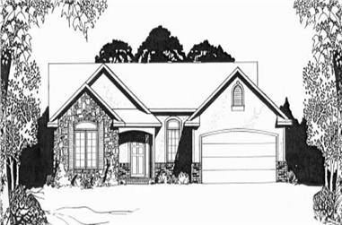 2-Bedroom, 1287 Sq Ft Ranch Home Plan - 103-1040 - Main Exterior