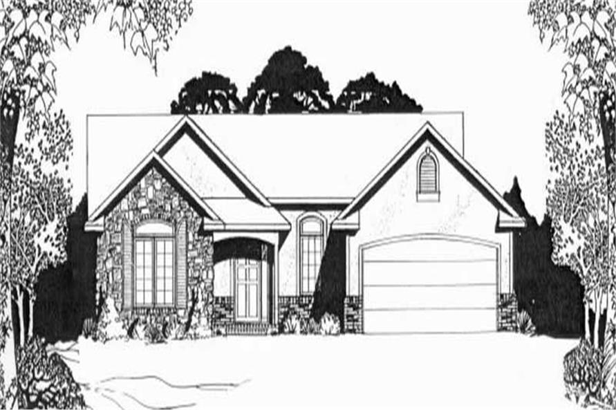 Ranch home with 2 bdrms 1287 sq ft house plan 103 1040 for 1040 square foot house plans