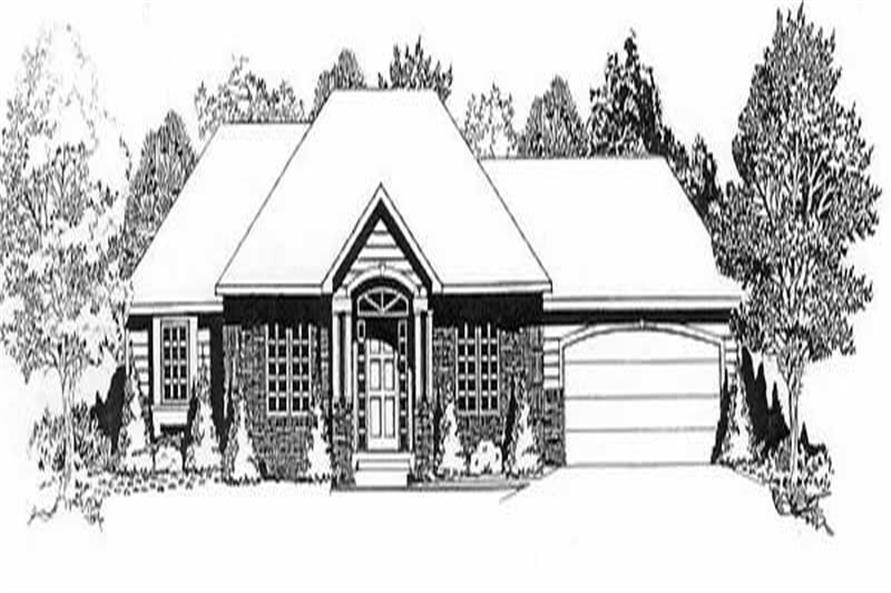 3-Bedroom, 1272 Sq Ft Ranch House Plan - 103-1041 - Front Exterior