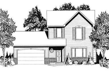 3-Bedroom, 1269 Sq Ft Small House Plans - 103-1043 - Front Exterior