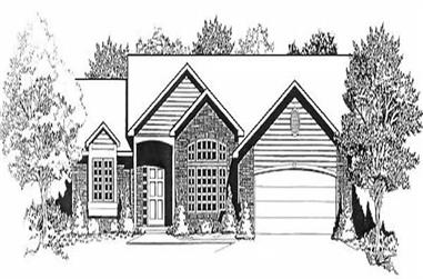 3-Bedroom, 1620 Sq Ft Ranch House Plan - 103-1045 - Front Exterior