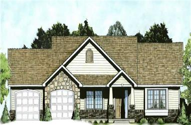 2-Bedroom, 1333 Sq Ft Small House Plans - 103-1046 - Main Exterior