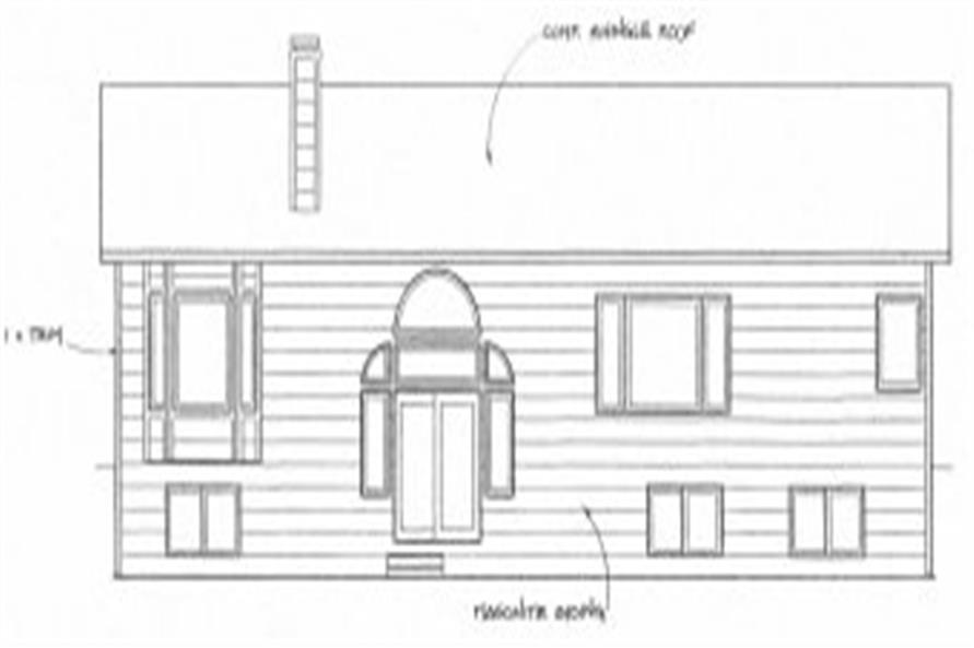 103-1049: Home Plan Rear Elevation