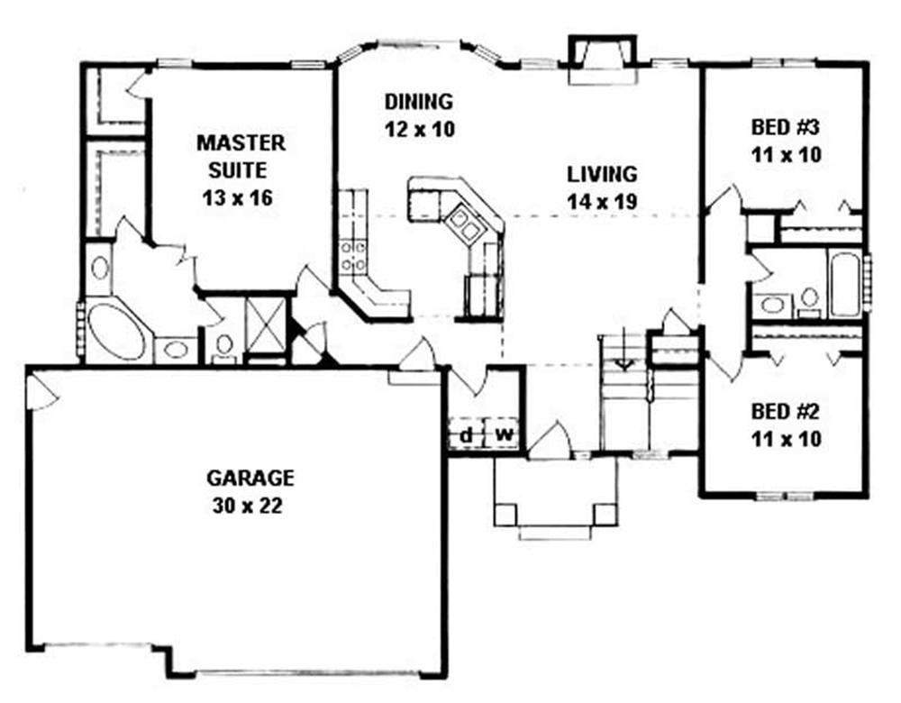 Large Images For House Plan 103 1050
