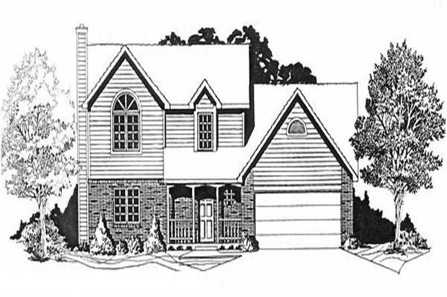 3-Bedroom, 1479 Sq Ft Small House Plans - 103-1051 - Front Exterior