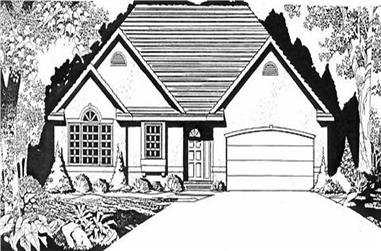 2-Bedroom, 1496 Sq Ft Ranch House Plan - 103-1053 - Front Exterior