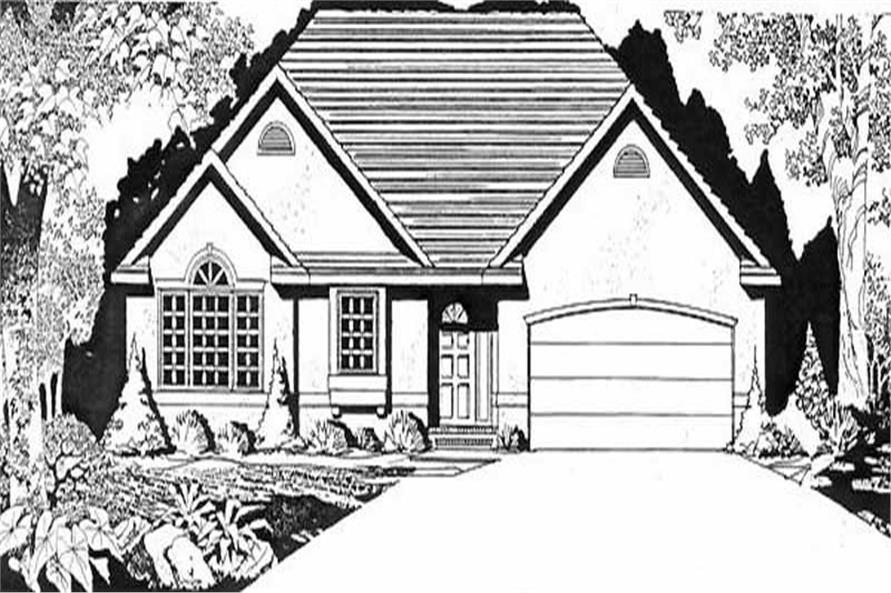 Main image for house plan # 16608