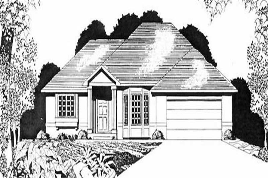 3-Bedroom, 1533 Sq Ft Ranch Home Plan - 103-1054 - Main Exterior
