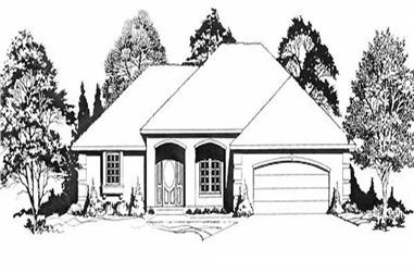 3-Bedroom, 1588 Sq Ft Ranch House Plan - 103-1056 - Front Exterior