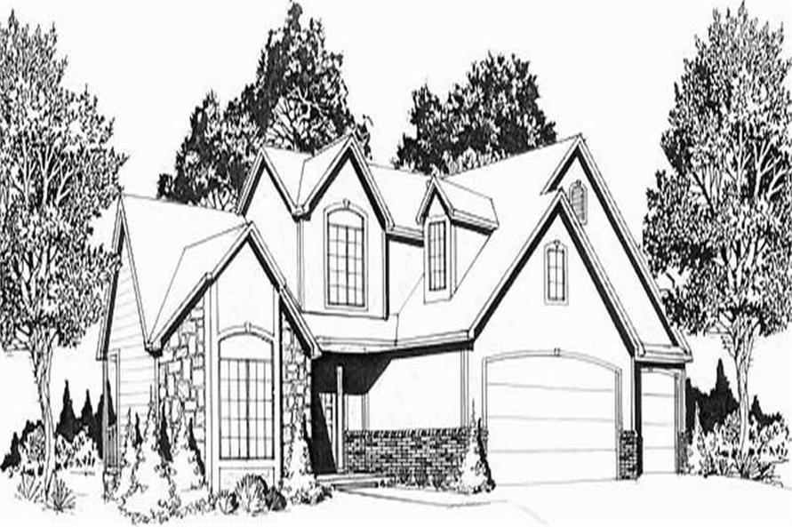 3-Bedroom, 1600 Sq Ft Small House Plans - 103-1058 - Front Exterior