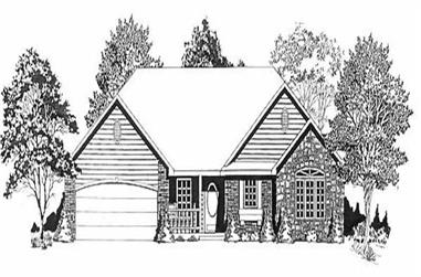 3-Bedroom, 1646 Sq Ft Ranch House Plan - 103-1060 - Front Exterior