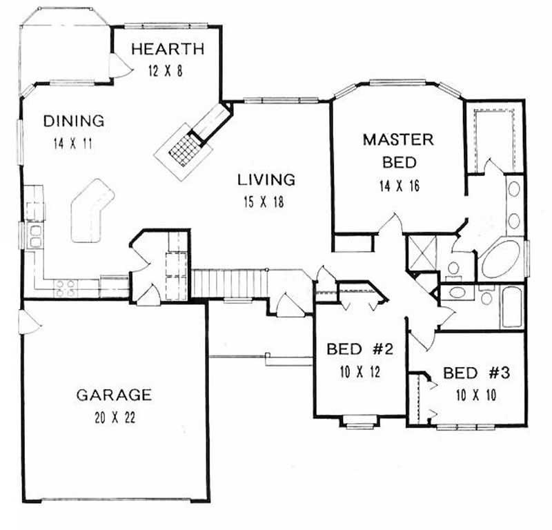 ranch home with 3 bdrms 1646 sq ft house plan 103 1060. Black Bedroom Furniture Sets. Home Design Ideas